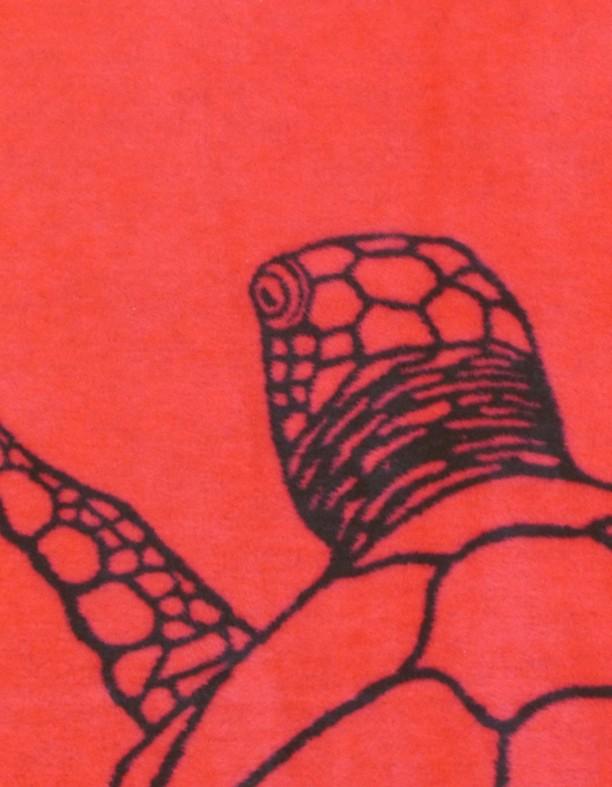 Zeeschildpad en ruimte zwart en rood textiel - Kleur rood ruimte ...
